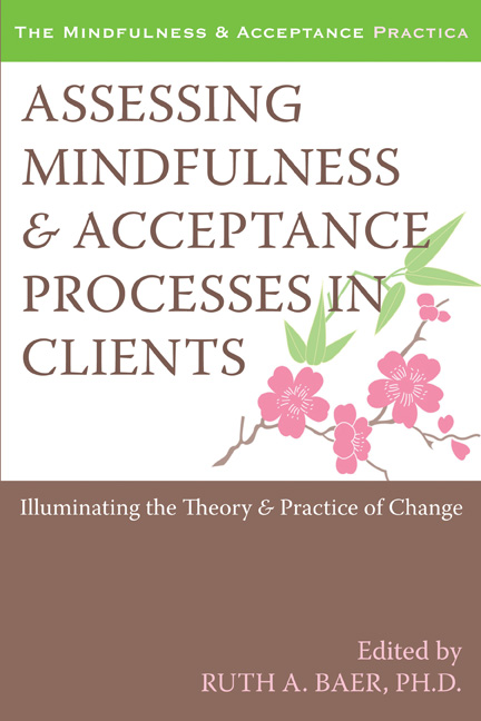 Cover of the book Assessing Mindfulness and Acceptance Processes in Clients: Illuminating the Theory and Practice of Change by Ruth Baer, PhD.